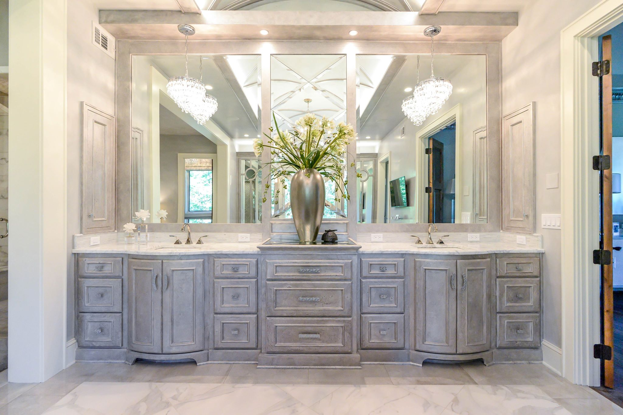 Custom bathroom cabinets designed