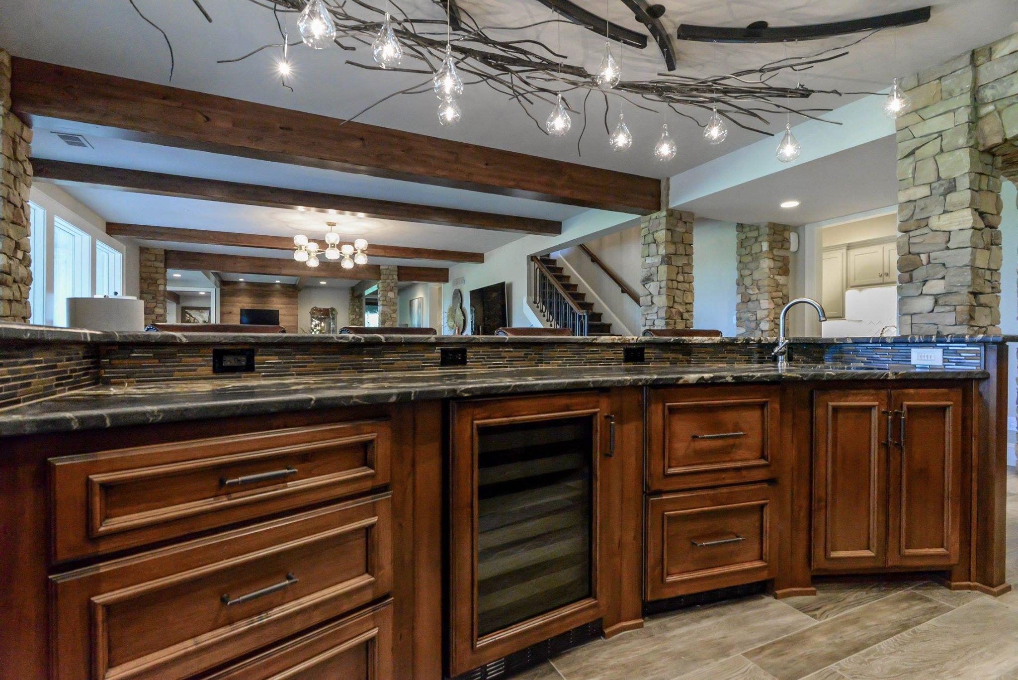 Custom cabinets and bar work